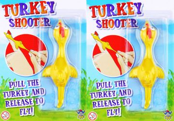 2x Flying Turkey Novelty Boys Girls Stocking Filler